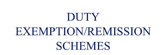 DUTY EXEMPTION/REMISSION SCHEMES by CS Riya Khurana